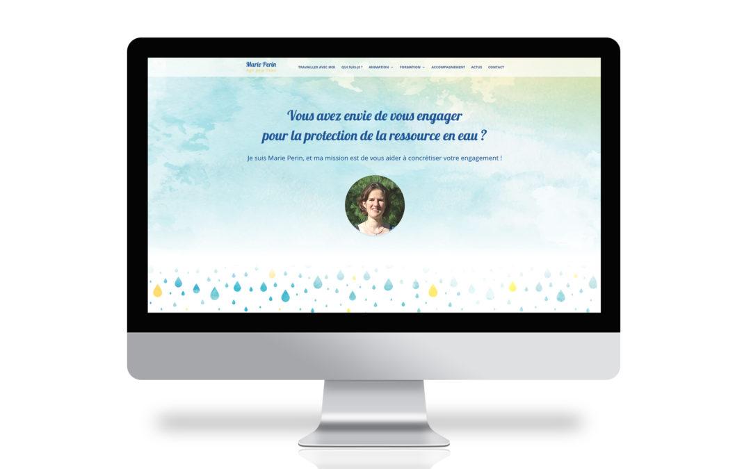 Marie Perin, Agir pour l'eau – Site web